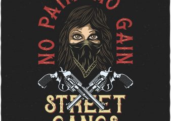 No pain No gain. Vector T-Shirt Design