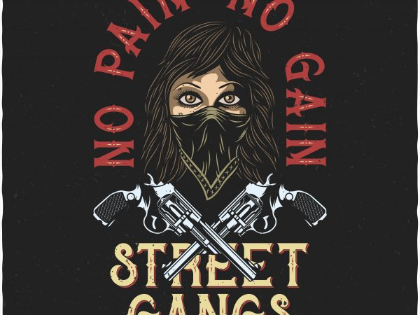 No pain No gain. Vector T-Shirt Design buy t shirt design