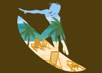 Beach Surfing Tshirt Design buy t shirt design