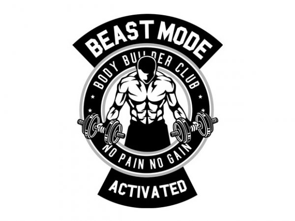 Beast Mode Activated t shirt template