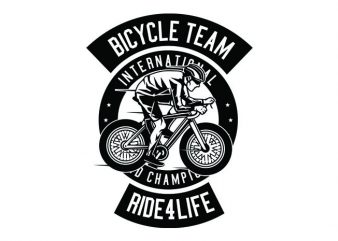 Bicycle Team Tshirt Design buy t shirt design