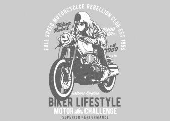 Biker Lifestyle Graphic t-shirt design buy t shirt design