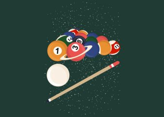 Billiard Space Tshirt Design
