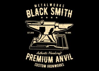 Blacksmith Graphic t-shirt design