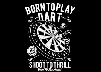 Born To Play Dart Graphic t-shirt design buy t shirt design