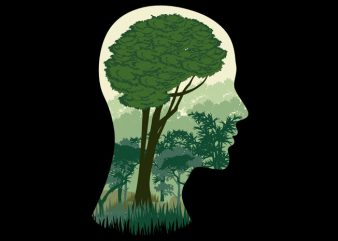 Brain Tree Tshirt Design