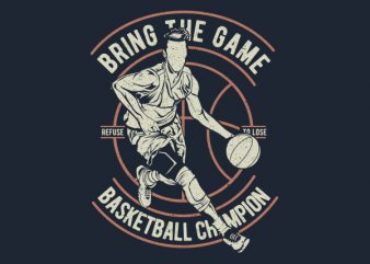 Bring The Game Graphic t-shirt design buy t shirt design