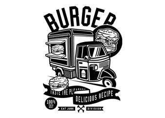 Burger Van Tshirt Design buy t shirt design