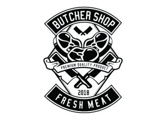 Butcher Tshirt Design