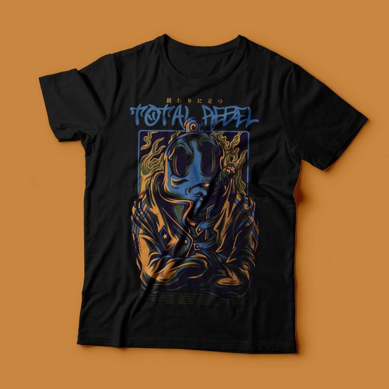 Total Rebel T-Shirt Design buy t shirt design