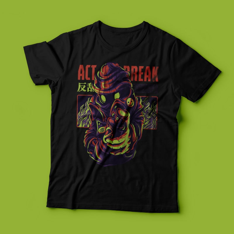 Act Break T-Shirt Design buy t shirt design