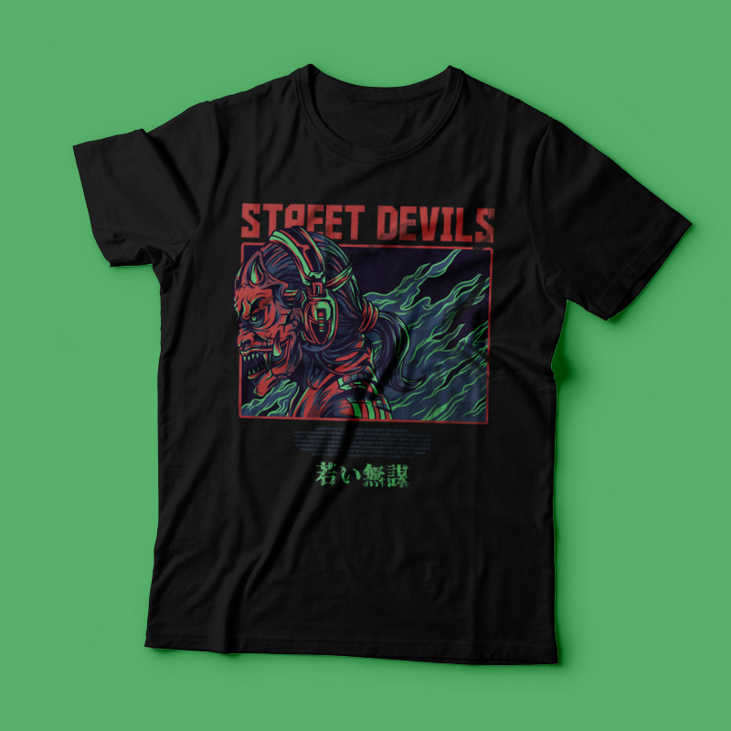 Street Devils T-Shirt Design buy t shirt design