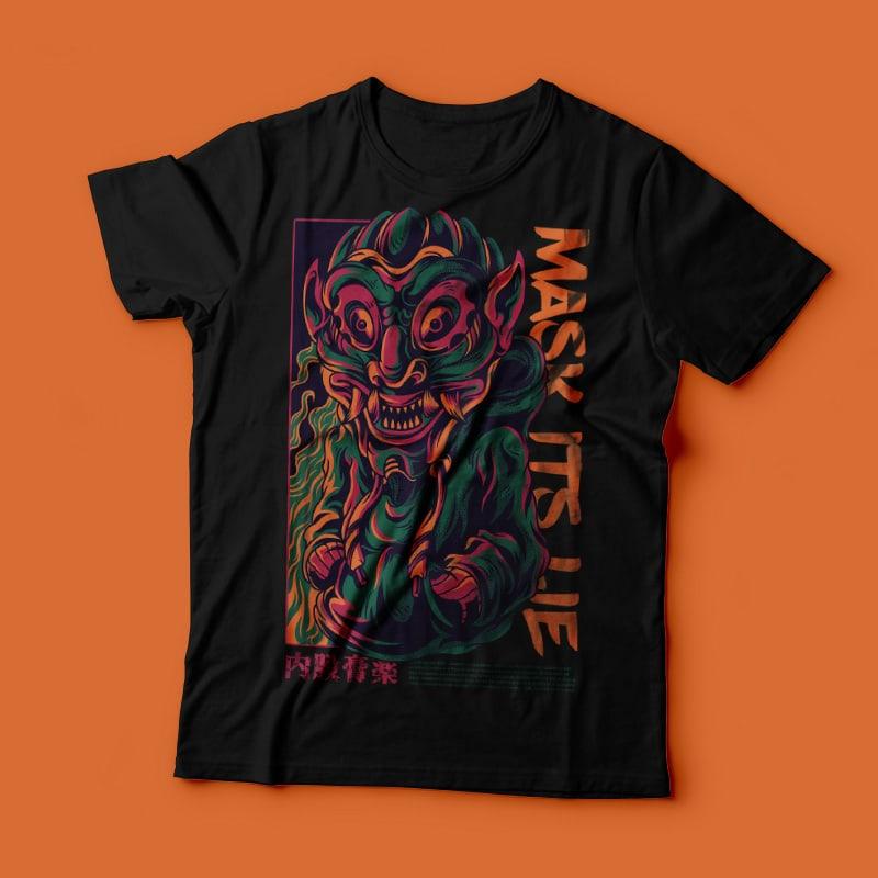 Mask its Lie T-Shirt Design buy t shirt design