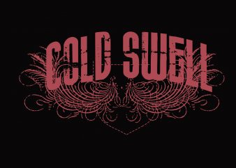Cold Swell t shirt vector file