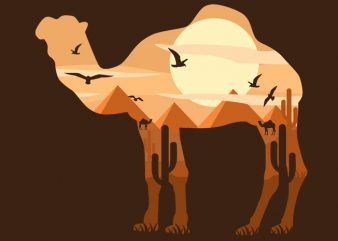 Camel t shirt vector file