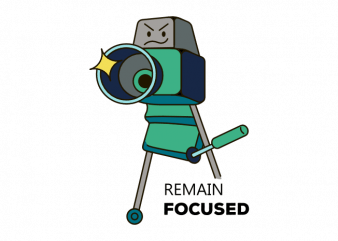 Camera photography remain focused t shirt printing design buy t shirt design