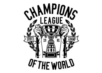 Champions League Tshirt Design buy t shirt design