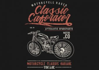 Classic Caferacer Graphic t-shirt design buy t shirt design