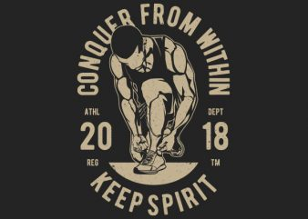 Conquer From Within Graphic t-shirt design buy t shirt design