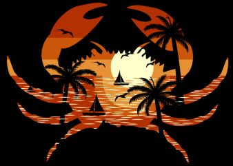 Crab Beach buy t shirt design