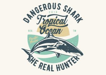 Dangerous Shark Vector t-shirt design