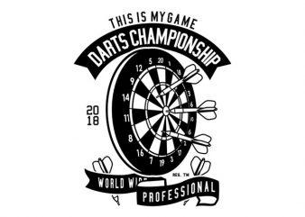 Darts Championship Tshirt Design