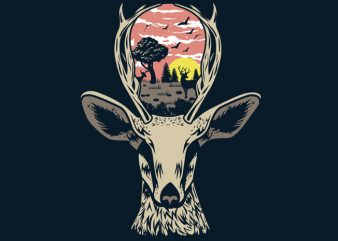 Deer Nature Tshirt Design buy t shirt design