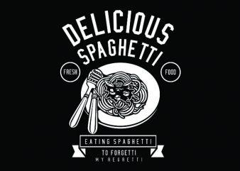 Delicious Spaghetti Tshirt Design