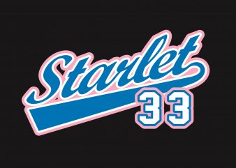 Starlet 33 t shirt template vector