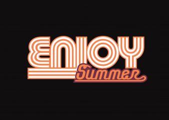 Enjoy Summer vector clipart