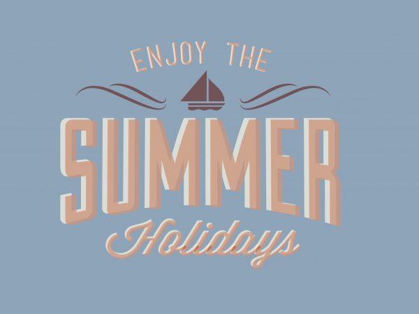 Summer Holidays buy t shirt design