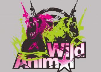 Wild Animal buy t shirt design