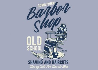 Downtown Barbershop Vector t-shirt design