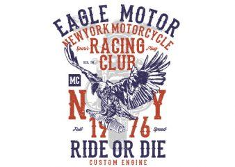 Eagle Motor Vector t-shirt design buy t shirt design