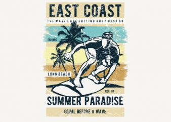 East Coast Vector t-shirt design buy t shirt design