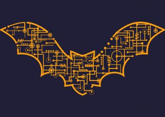 Electric Bat Tshirt Design buy t shirt design