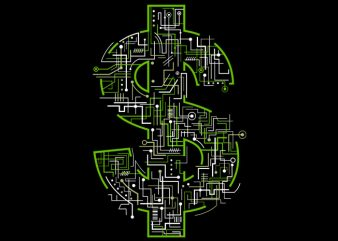 Electric Dollar Tshirt Design buy t shirt design