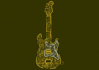 Electric Guitar buy t shirt design