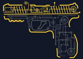 Electric Gun vector clipart
