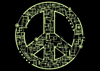 Electric Peace Tshirt Design buy t shirt design