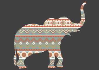 Elephant Ornament Tshirt Design