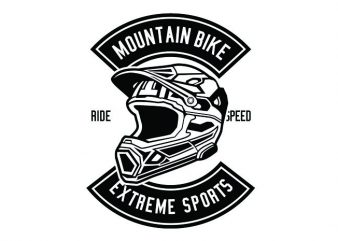 Extreme Bike Helmet Tshirt Design buy t shirt design