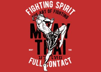 Fighting Spirit Vector t-shirt design t shirt template