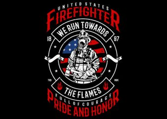 Firefighter Graphic t-shirt design buy t shirt design