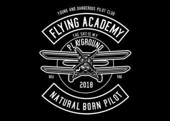 Flying Academy Tshirt Design buy t shirt design