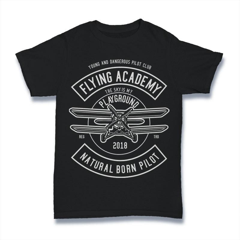 Flying Academy Tshirt Design buy t shirt design