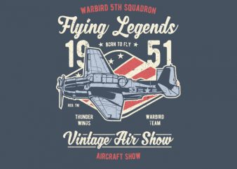 Flying Legends Graphic t-shirt design buy t shirt design
