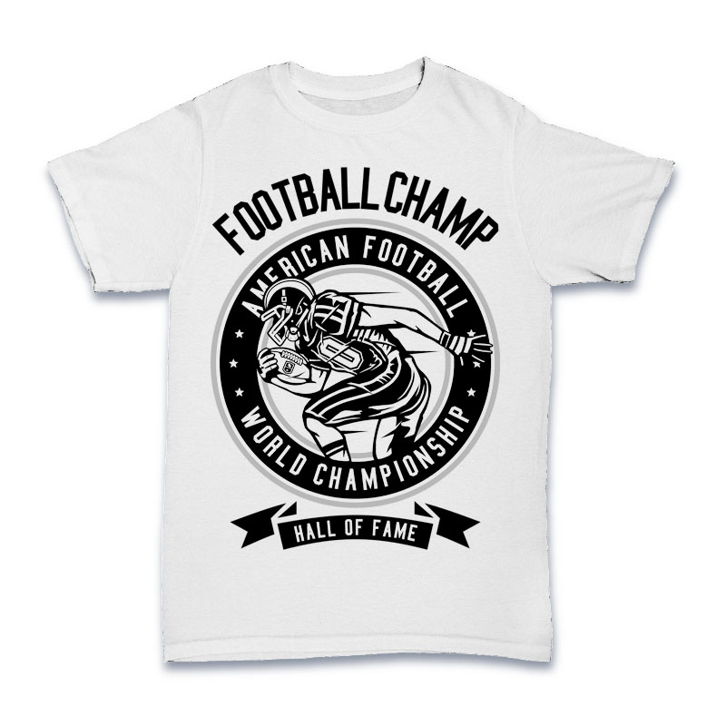 Football Champ Tshirt Design buy t shirt design