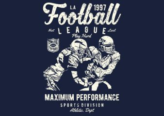 Football League Vector t-shirt design