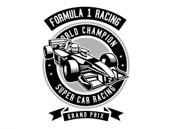 Formula 1 Racing Tshirt Design buy t shirt design